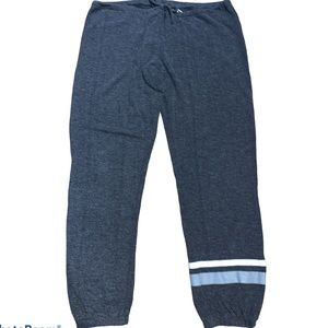 Chaser Dark Grey Joggers W/Silver & White Stripe